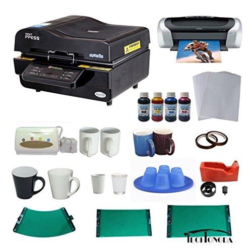 3d Sublimation Vacuum Machine Mug Printer Ciss Paper Business Bundle by Techtongda Sublimation Packages