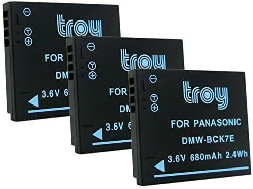 Troy 3/x Bater/ía para Panasonic Lumix DMW DMW-BCK7/Apto para DMW BCK7E NCA NCA-YN101H DMC FS16/FS18/FS35/DMC DMC FS22/DMC-FX77/DMC S1GK S3GK DMC S3R s3/V DMC FH2/FH5/DMC FH7/DMC-FT30