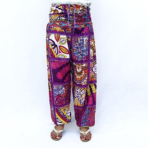 Rayón Frente Reunidos Volver Smocked Cintura Cadena ajustable Pijama Pantalón para la playa
