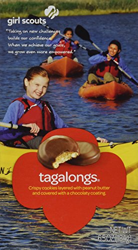 Girl Scout Cookies * Tagalongs * Cookies Topped with Creamy Peanut Butter Covered in Chocolate - 1 Box of 15 Cookies