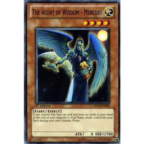 The Agent of Wisdom Mercury SDLS-EN005 Yu-Gi-Oh Common Card 1st Mint New
