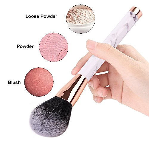 Marble Makeup Brushes Powder Brush Eyeshadow Brushes Vegan Professional Makeup Brush Set Blush Brush Concealer Eyeliner Lip Brush Flat Foundation Brush Face Brush set Travel Cosmetic Brushes