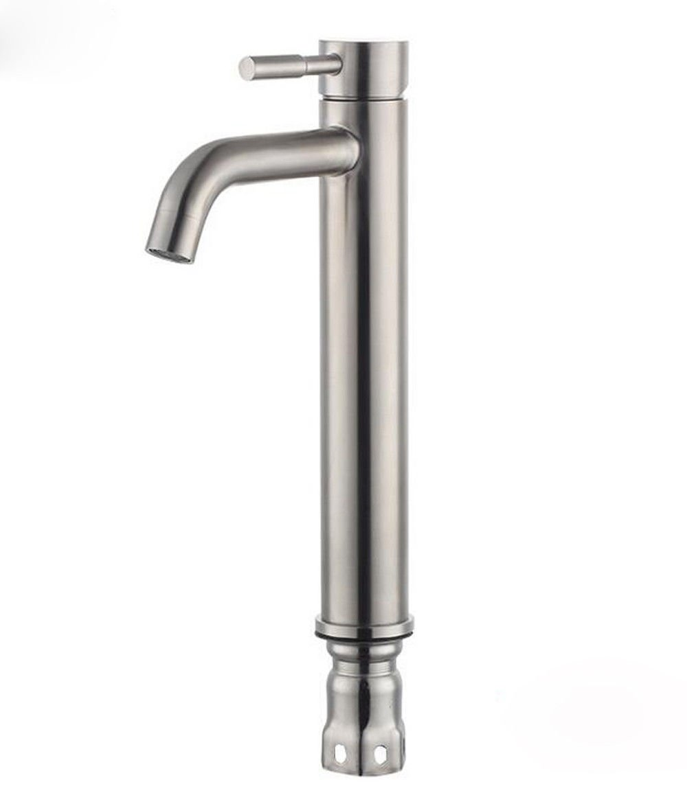 LHbox Basin Mixer Tap Bathroom Sink Faucet High Grade 304 stainless steel basin faucet surface basin sink mixer