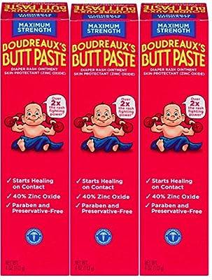 BOUDREAUX Butt Paste Diaper Rash Ointment