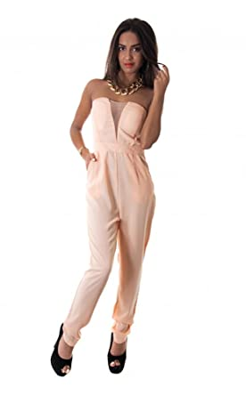 In To Deep Chiffon Jumpsuit In Nude The Fashion Bible Sale Really VSnSgA