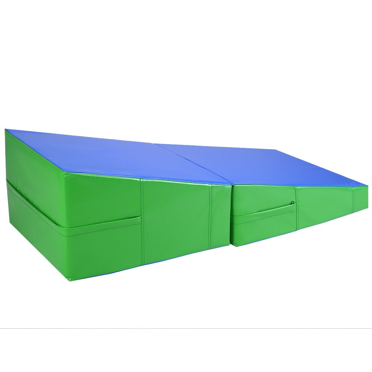 Incline Gymnastics Mat Wedge Folding Gymnastics Gym Fitness Tumbling 48''x24''x14'' by BUY JOY (Image #2)