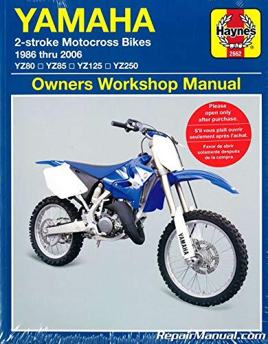 (H2662 1986-2006 Yamaha YZ80 YZ85 YZ125 YZ250 Two Stroke Motorcycle Repair Manual)
