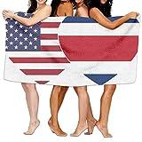 FASHT LL Unisex COSTA RICA USA Twin Flag Over-Sized Cotton Bath Beach Travel Towels 31x51 Inch