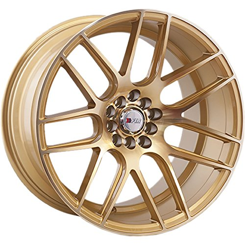 (18x10.5 F1R F18 Machine Gold Rim Offset(20) Lug(5x100/5x114.3) Bore(73.1) 1 Wheel -- F181810510H20GD)