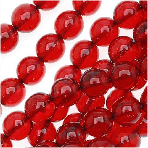 (UnCommon Artistry 8mm Ruby Red Round Czech Glass Druk Beads (50 pcs))