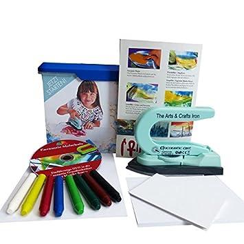 Encaustic Einsteiger-Box mit Maleisen, Wachsfarben, Malkarten und ...