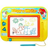 Pinhan Magnetic Drawing Board - Toys with 2 Stamps for 4 Year Old Boys and Girls,Small Magna Doodle Games,Mini Color Sketch Writing Pad Gift for Kids & Children - Travel Size 11''x8.6''