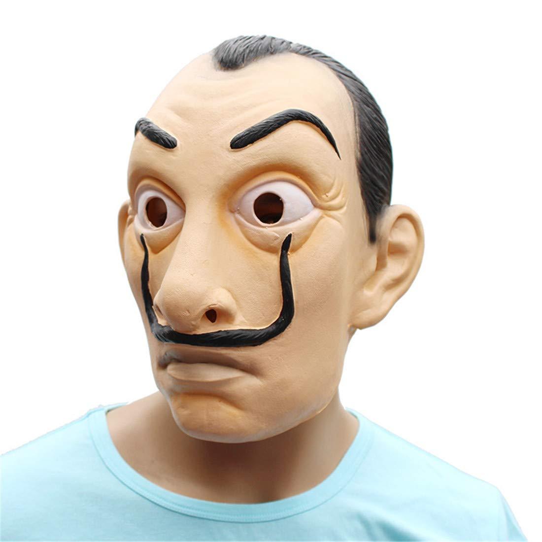 VUKUB Decoración De Halloween La Casa De Papel Máscara De Disfraces Máscara Cosplay Full Head Máscara De Látex Fuego Lobo: Amazon.es: Deportes y aire libre