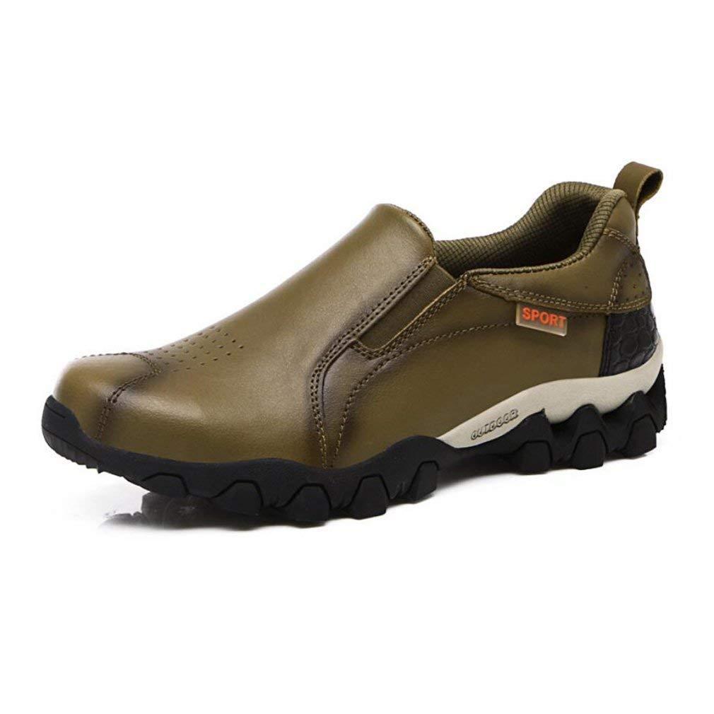 HhGold Beiläufige Schuhe der Männer 2018 Frühlings England-Retro- Rutschfeste kletternde Lederne im FreienTurnschuhe Bequeme Athletische Art- und Weiseschuhe (Farbe   EIN Größe   40)