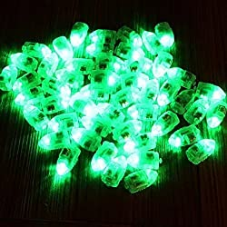 Neo LOONS® 50pcs/lot 50 X Green Led Flash Ball Lamp Balloon Light long standby time for Paper Lantern Balloon Light Party Wedding Decoration