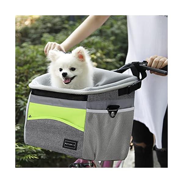 Petsfit Fahrradkorb Vorne für kleine Haustiere, Katzen, Hunde, Abnehmbarer Fahrrad Hundekorb,Schnellentriegelung…
