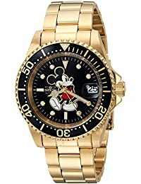 Men's 'Disney Limited Edition' Automatic Stainless Steel Casual Watch, Color:Gold-Toned (Model: 25107)