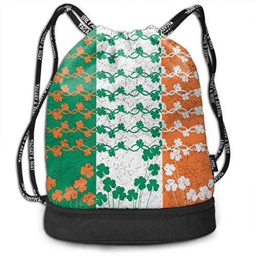 768d8d445bdc Zhangyi Saint Patricks Day Design Irish Flag Shamrock Drawstring Backpack  Sports Gym Cinch Sack Bag for Women Men Girls Sackpack Dance Bag