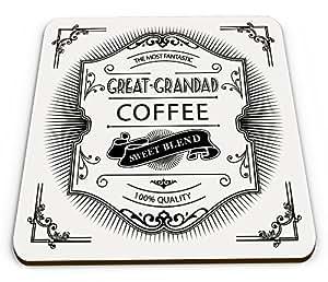 El más fantástico GREAT-GRANDAD mezcla de café dulce Calidad Novedad brillante taza posavasos
