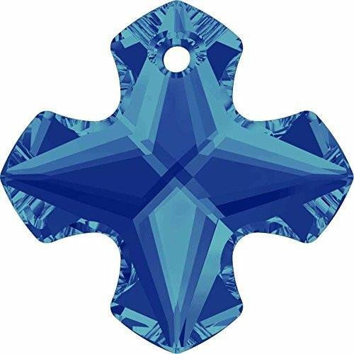 6867 Swarovski Pendant Greek Cross | Crystal Bermuda Blue | 14mm - Pack of 72 (Wholesale) | Small & Wholesale - Bermuda Crystal Mm 14