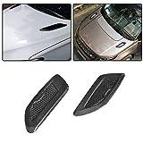 Audi Fender Trim - jcsportline fits Universal Vehicle BMW Benz Audi Carbon Fiber Air Flow Intake Turbo Bonnet Fender Hood Scoop Vent Sticker Trim Decorative