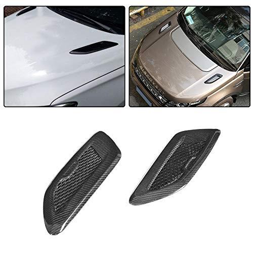 JC SPORTLINE fits Universal Vehicle BMW Benz Audi Carbon Fiber Air Flow Intake Turbo Bonnet Fender Hood Scoop Vent Sticker Trim Decorative