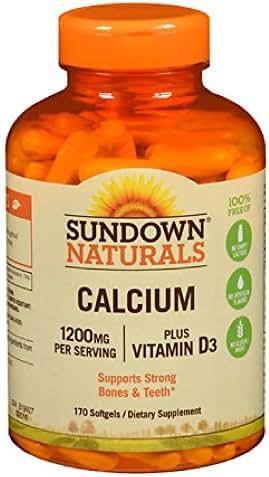 Sundown Calcium plus Vitamin D3, 1200mg, Softgels 170 ea (Pack of 2)