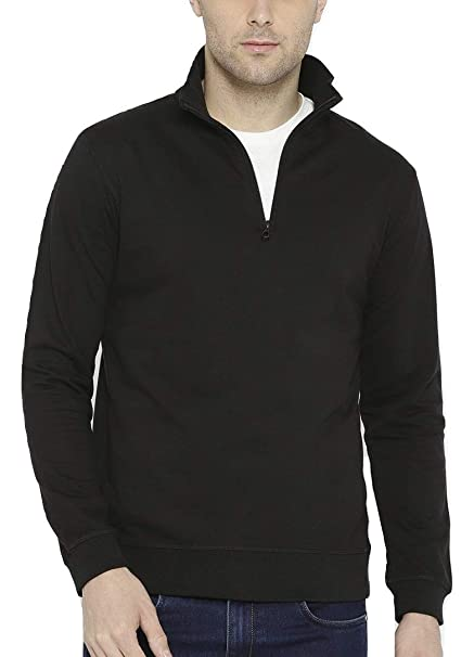465e4f10820 Dream of Glory Inc. Men s Cotton Full Sleeve Quarter-Zip High Neck  Sweatshirts for Men Also in Plus Sizes  XS - 9XL  Amazon.in  Clothing    Accessories
