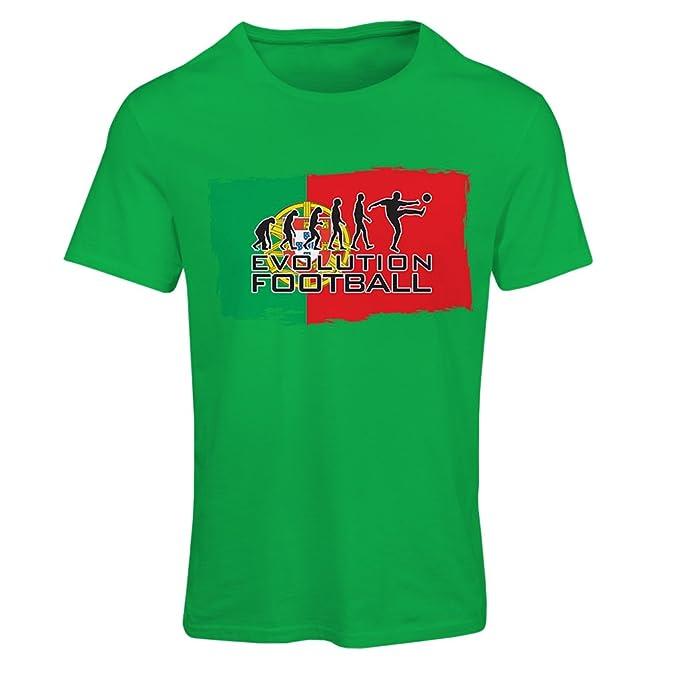 Camiseta mujer El equipo nacional de fútbol de Portugal - Evolución, Copa Mundial 2018 Rusia: Amazon.es: Ropa y accesorios