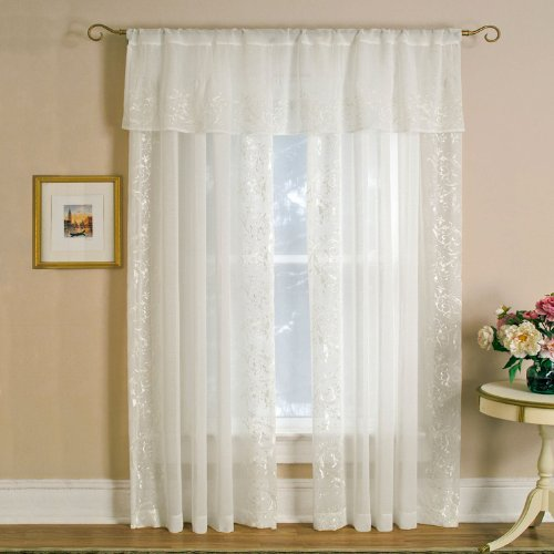Elrene Addison Rod Pocket Window Curtain Panel White 52