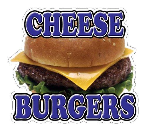 CHEESEBURGERS Concession Decal trailer hamburger cheese