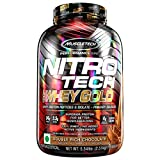 MuscleTech NitroTech Whey Gold, 100% Whey Protein Powder, Whey Isolate and Whey Peptides, Double Rich Chocolate, 5.5 Pound