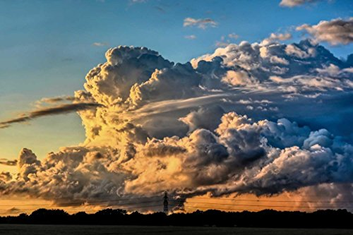 Sim,29.5 X 19.6 inch Handmade Premium Basswood Jigsaw Puzzle 1000 Piece Special Present Home Decor in Box Present-Wrap : Cumulonimbus Clouds Storm Winter - Diy Storm Cloud Costume