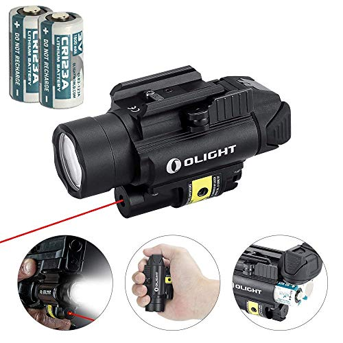 Olight PL-2RL Baldr Light & Red Laser Combo, 1200 lumens Ultra-High-Output White LED Flashlight, Quick Release Rail Mount, 2 x CR123A Batteries and LegionArms Sticker ()