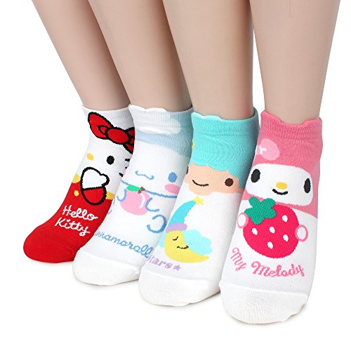 Crayon Shin Chan Licensed Socks With INTYPE Pouch (US 6-8.5) (S_lowcut(HQA) 4pairs) (Crayon Socks)