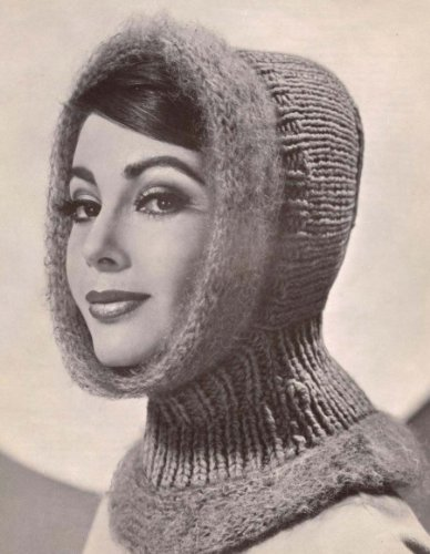 Woman's Hood with Mohair or Child's Hood without Mohair Knitting Pattern ()