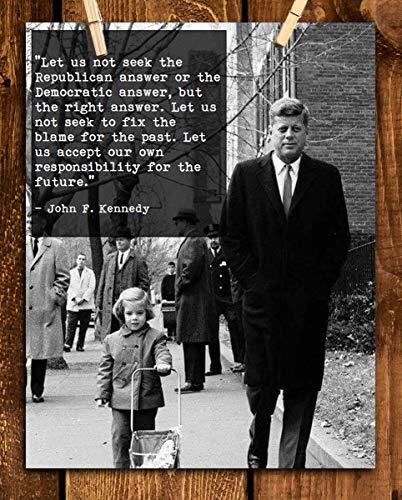 John F. Kennedy Quotes Wall Art-