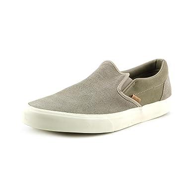 cb57cfb2fb2 Vans Men Classic Slip On Ca Knit Suede (Gray Aluminum)-9.0