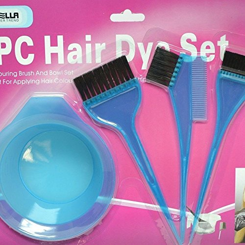 Salon Hair Coloring Dyeing Kit Dye Brush Comb Bowl Tint Tool Kit (Black)