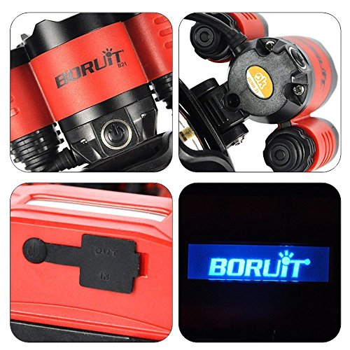 Glighone Boruit Lampe Frontale Led Rechargeable Torche Zoomable