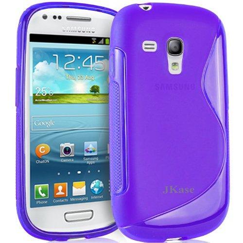 (JKase Slim-Fit Streamline Ultra Durable TPU Case for Nokia - Retail Packaging (Galaxy S3 Mini, Purple))