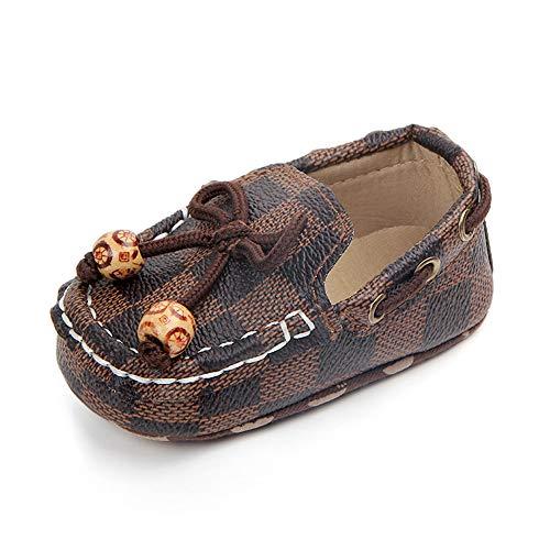 Sabe Newborn Infant Baby Girls Boys Tassels Soft Sole Loafer Shoes Prewalker Moccasin (12-18 Month, - Coffee Loafer