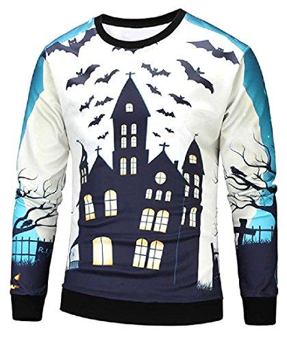 Tumblr Halloween Costumes (Abetteric Men Juniors Western Halloween Costume Creative Sweatshirts As Picture L)