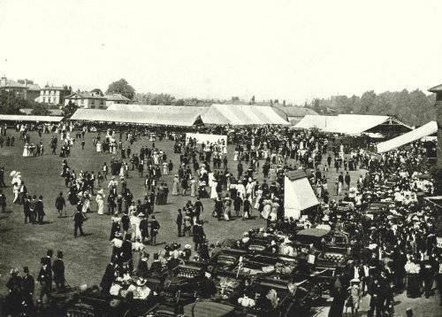 London. Lord's Cricket Ground- Luncheon Interval Eton Harrow Match - 1896 - Old Print - Antique Print - Vintage Print - Printed Prints of London