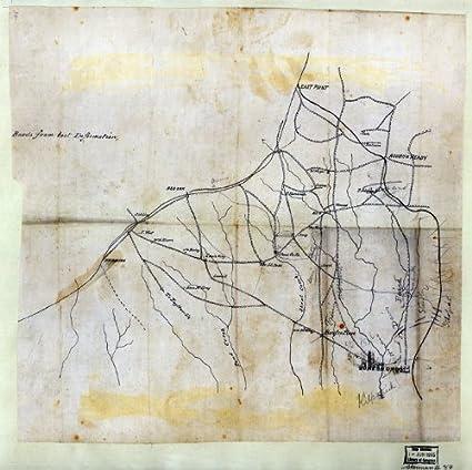 Map Of Jonesboro Georgia.Amazon Com Civil War Map Reprint Map Of The Country Northwest Of