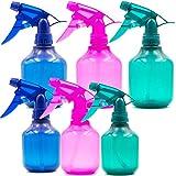Youngever 6 Pack Empty Plastic Spray Bottles, 3 Pack 12 oz Spray Bottles