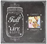 "MCS MBI 12.5x13.5 Inch ""Full of Life and Love Mason Jar"" Scrapbook Album with 12x12 Inch Pages with Photo Opening (860083)"