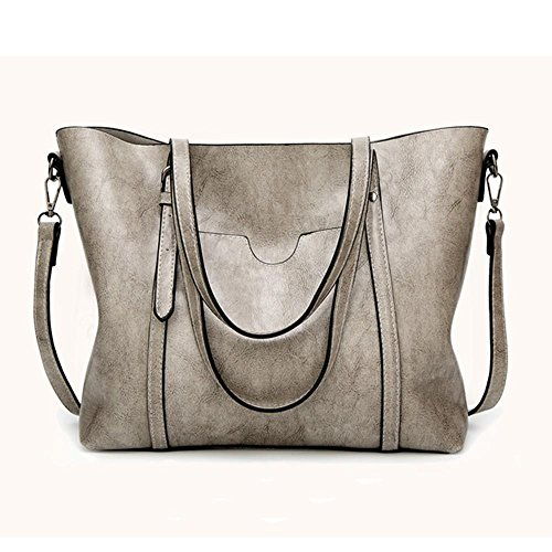 Gotd Womens Girl Crossbody Shoulder Bag Handbag Messenger Strap Messenger Handbag Tote on sale Clearance Travel kids Zipper (Gray)