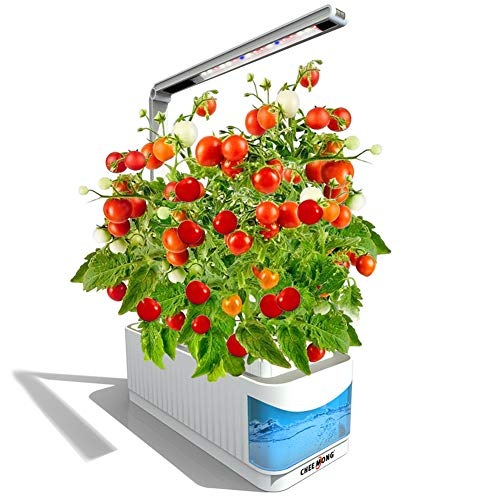 ❥ Indoor Hydroponic Herb Garden Kit, Hydroponics Growing System Herb Garden Light for Tomatoes Plants, 360 Degree Adjustable Arm, Low Water Alarm, Reading Mode - Seeds Not Included - Best Gift Hydroponic System 1