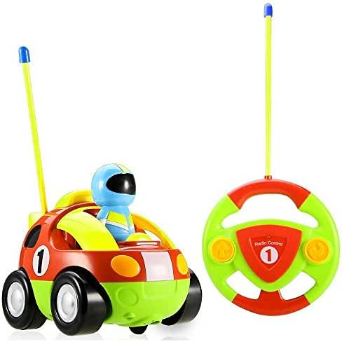 RC Car,Stoga RC Cartoon Race Car Action Figure Radio Control Toy with Music Best Gift for Toddlers Kids